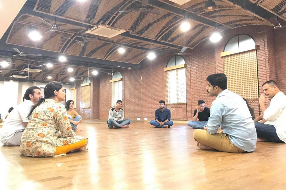 Collective Review Session at Theatre Workshop