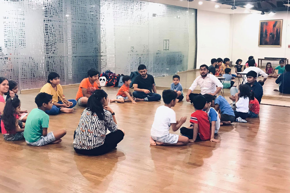 Group Session in Children Theatre Workshop