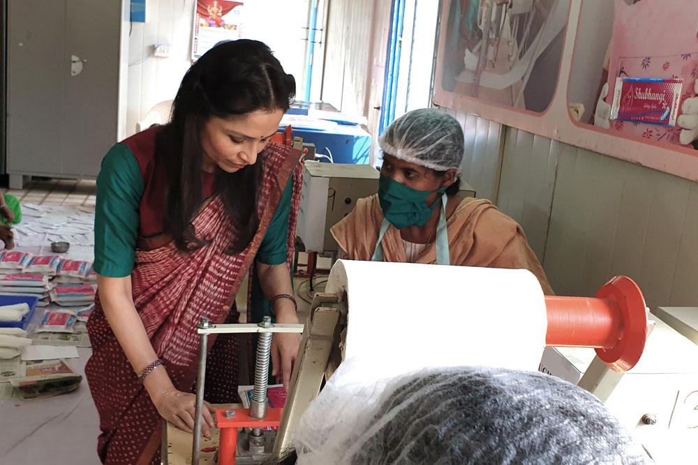 Sanitary Napkin (Shubhangi) Making Unit at JJK, Angul