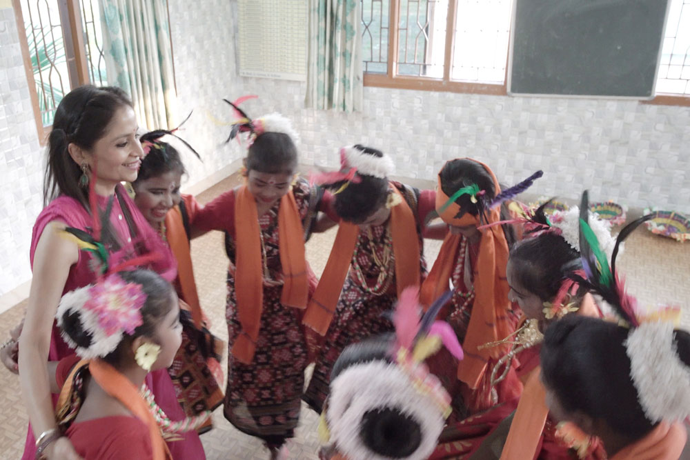 Inmates of Adruta Home, Angul with Ms Jindal