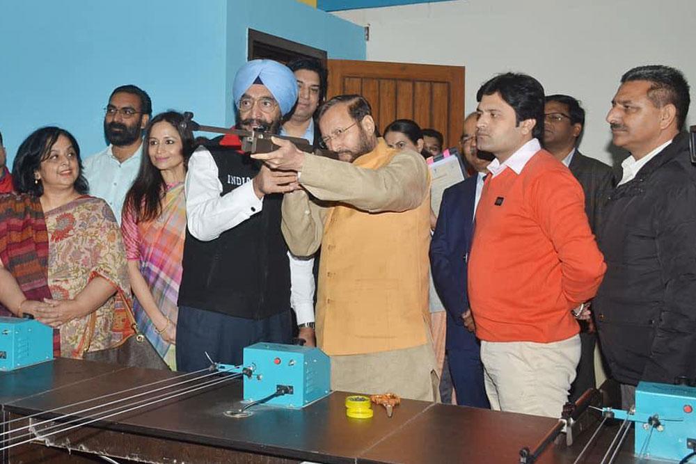 Inauguration of Shooting Section at NBB by HRM Shri Prakash Javadekar