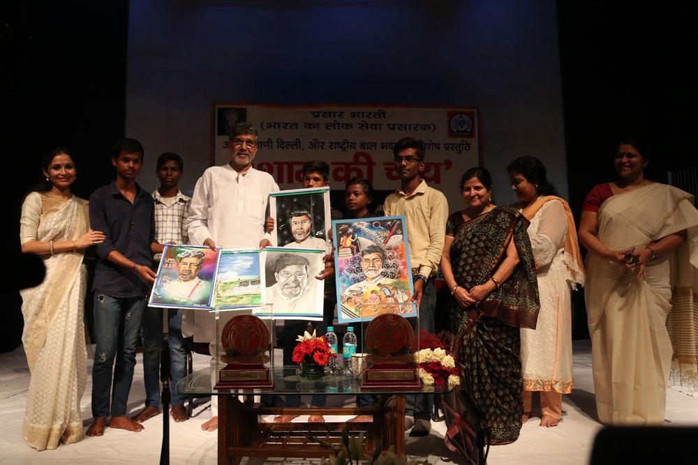 With Nobel Laureate Kailash Satyarthi at NBB