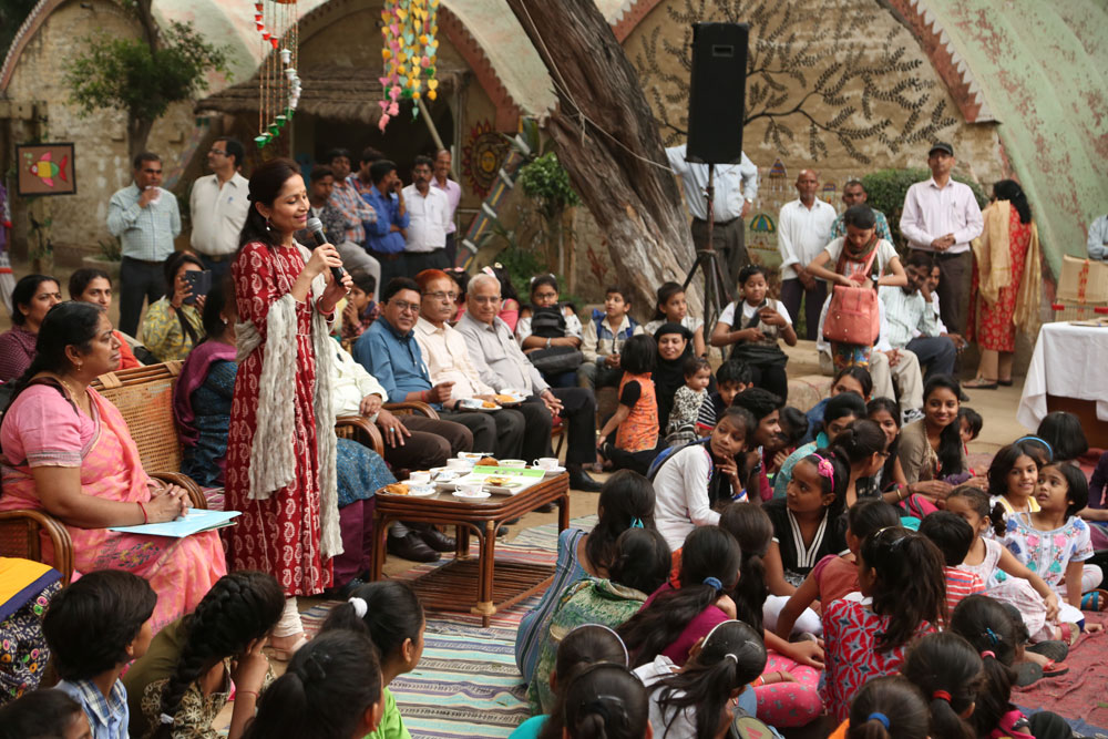 Addressing NBB Staff At Traditional Diwali at Revamped Indian Village