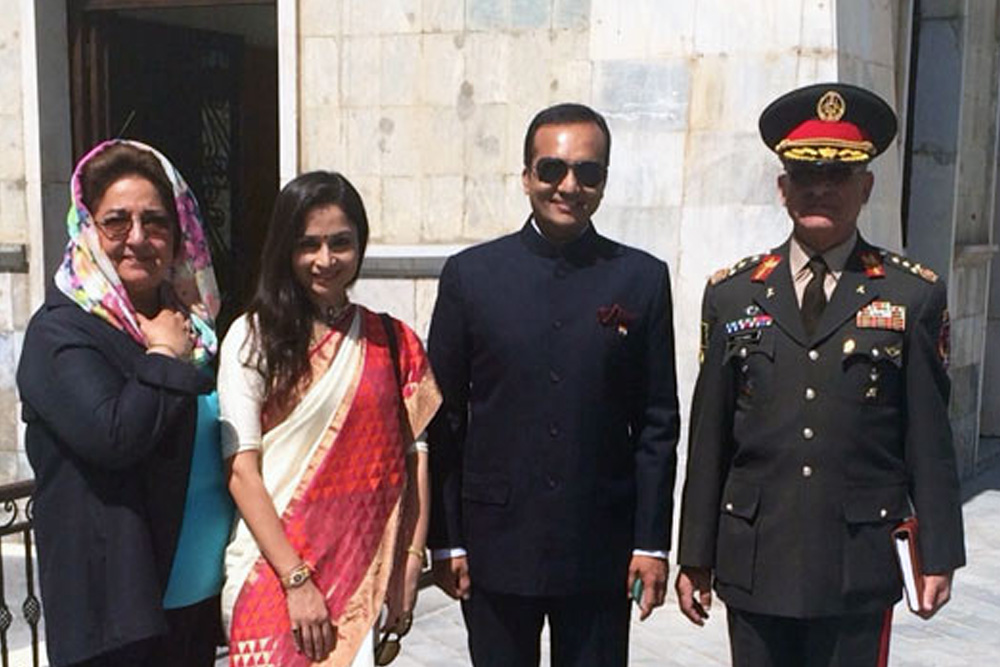 FFOI Leaders at Afghanistan Flag Installation Ceremony