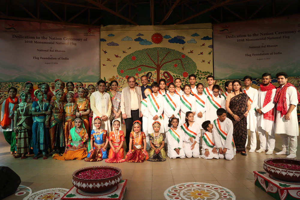 Union Minister Birender Singh With Performing Students and Faculty of NBB