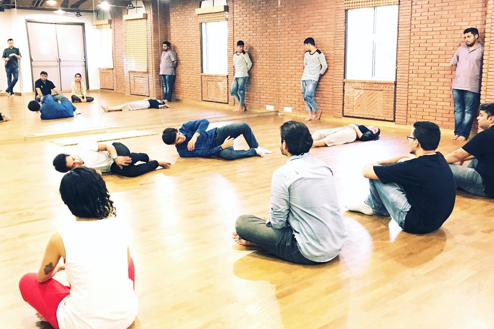 Students of Senior Theatre Workshop during Short Skits