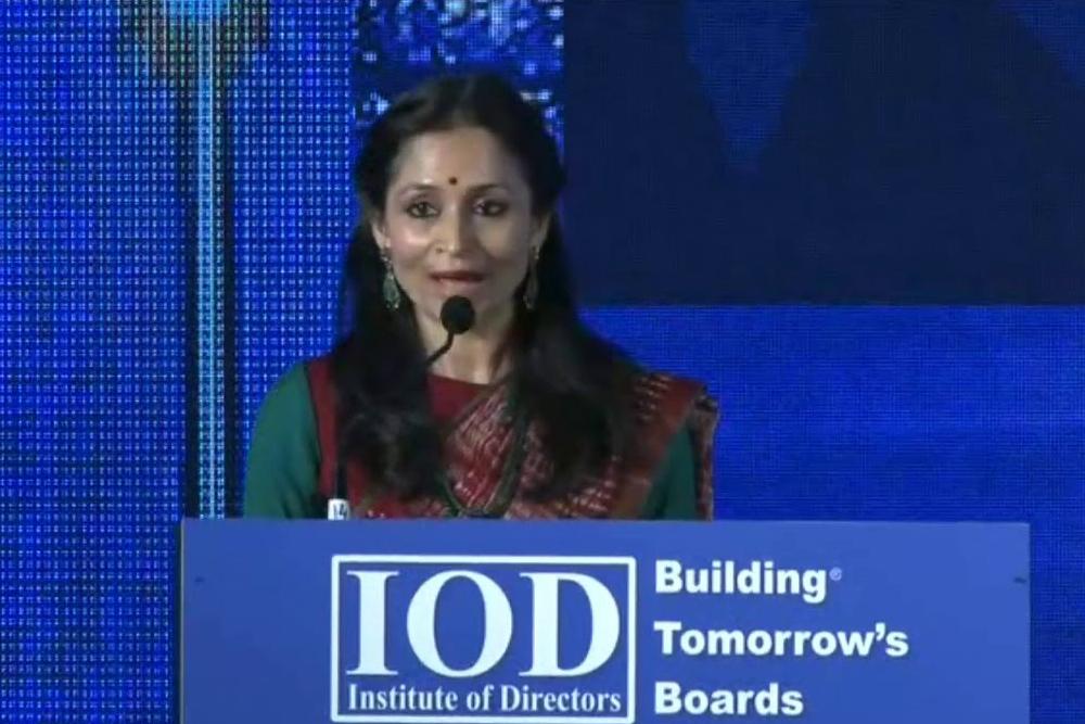 Ms. Shallu Jindal Chairperson Jindal Foundation addressed at 14 International Conference on CSR 2020