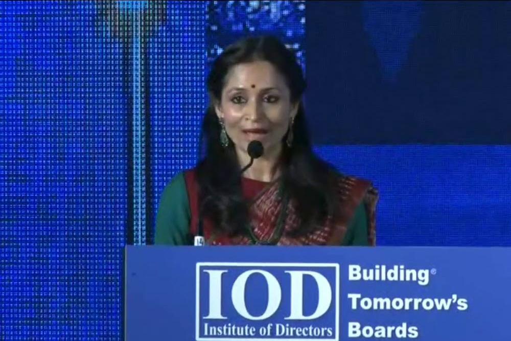 Ms. Shallu Jindal Chairperson Jindal Foundation Addressed at 14 International Conference on CSR..
