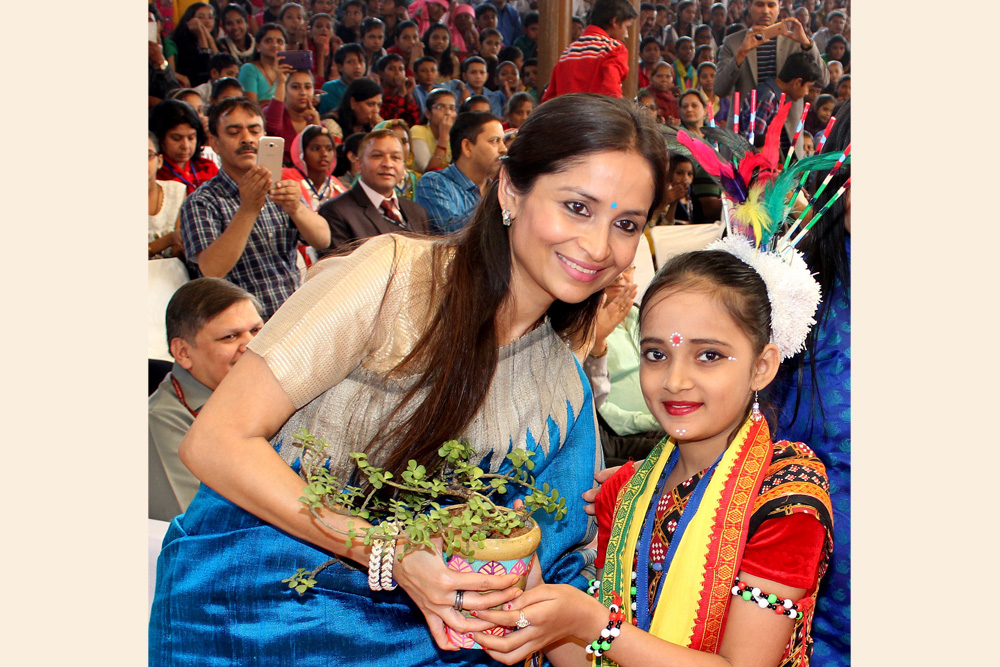 Being Felicitated as Chairperson, NBB at National Children Assembly