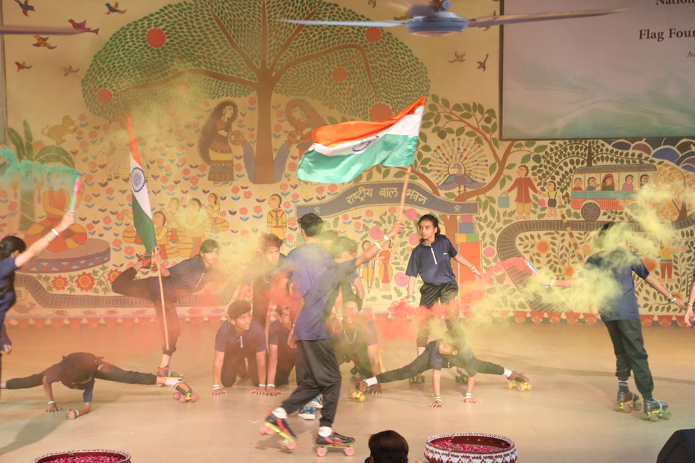 NBB Sports Team Showcasing Their Talent at Flag Installation Ceremony