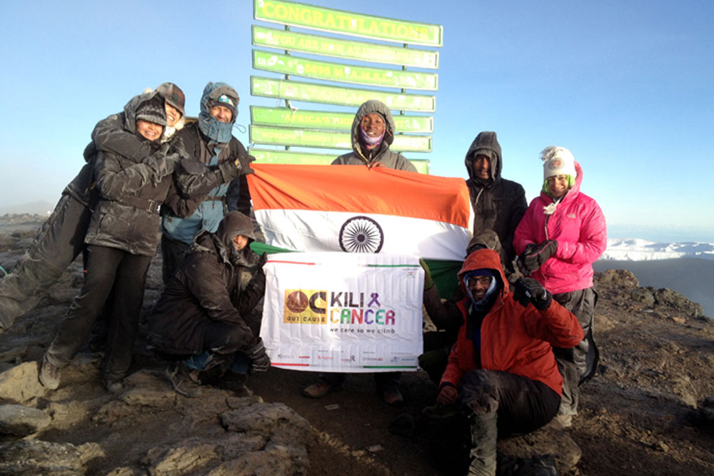 With Team at Peak of K2